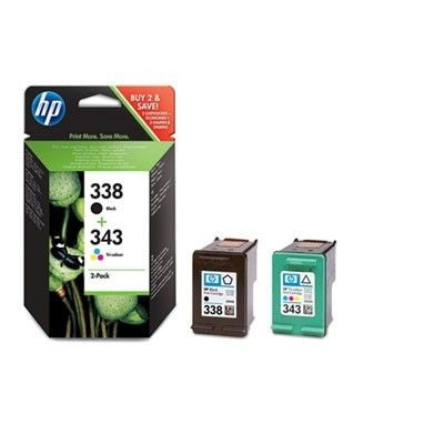 HP 338/343 black + tri-colour Combo Pack Vivera