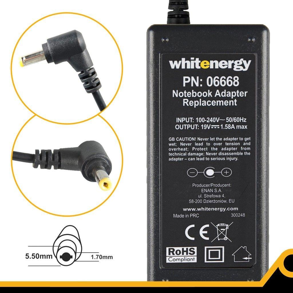 Whitenergy zasilacz 19V/1.58A 30W (wtyczka 5.5x1.7mm)