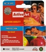 ActiveJet Tusz ActiveJet AC-3e/6PC | Cyan photo | 15,5 ml | Canon BCI-3ePC, BCI-6PC