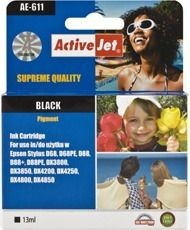 ActiveJet Tusz ActiveJet AE-611 | Black | 13 ml | Chip | Epson T0611