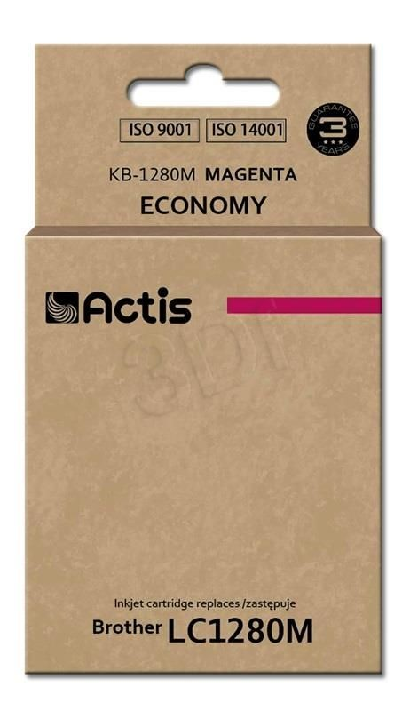 Actis Tusz Actis KB-1280M (do drukarki Brother zamiennik LC1280M standard 19ml magenta)