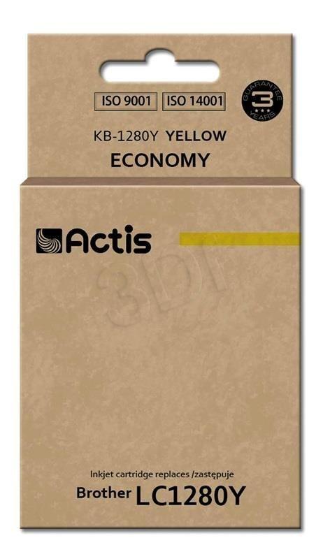 Actis Tusz Actis KB-1280Y (do drukarki Brother zamiennik LC1280Y standard 19ml yellow)
