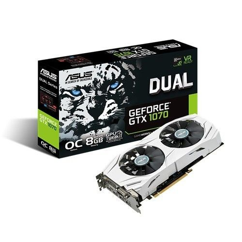 Asus GeForce GTX 1070, 8GB GDDR5 (256 Bit), 2xHDMI, DVI, 2xDP