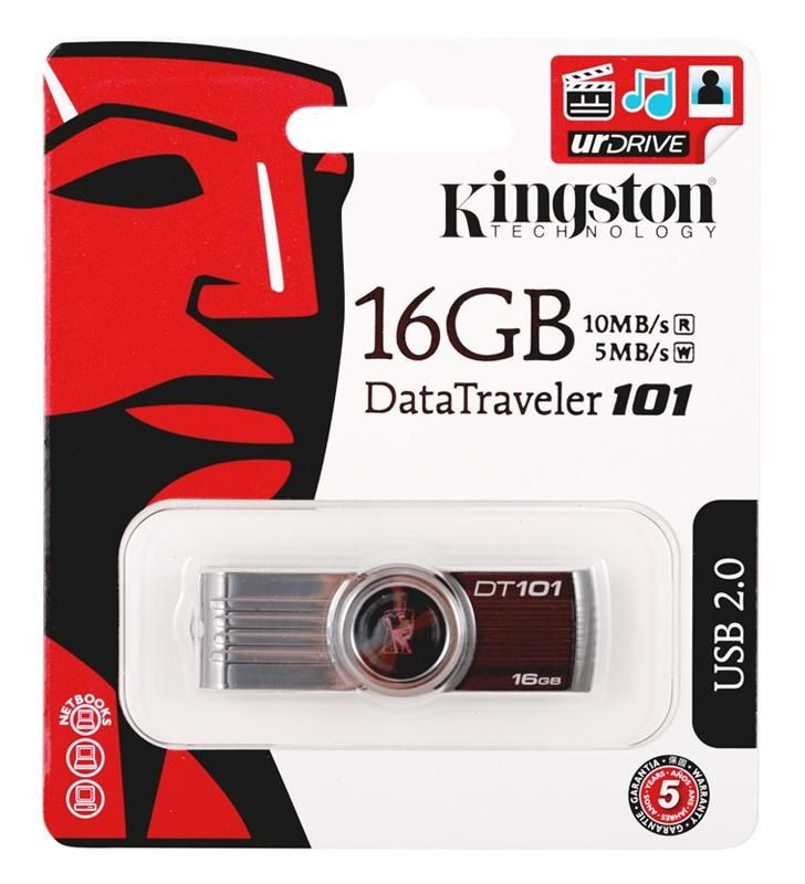 Kingston Data Traveler 101 Gen2 16GB USB2.0 Black