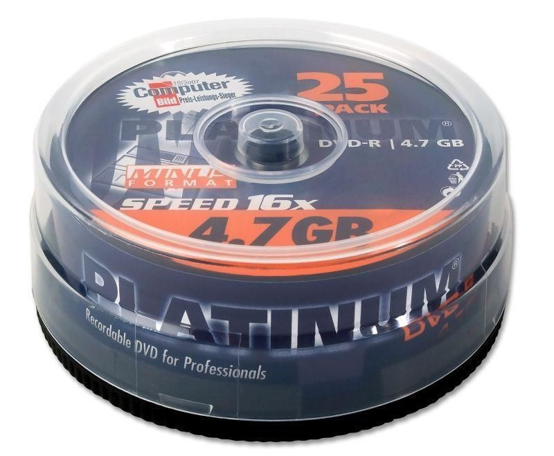 Platinum DVD-R 4.7GB 16x (cake box, 25szt)