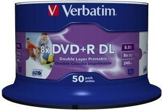 Verbatim DVD+R DL 8,5GB 8x Printable NoID (szpindel, 50szt)