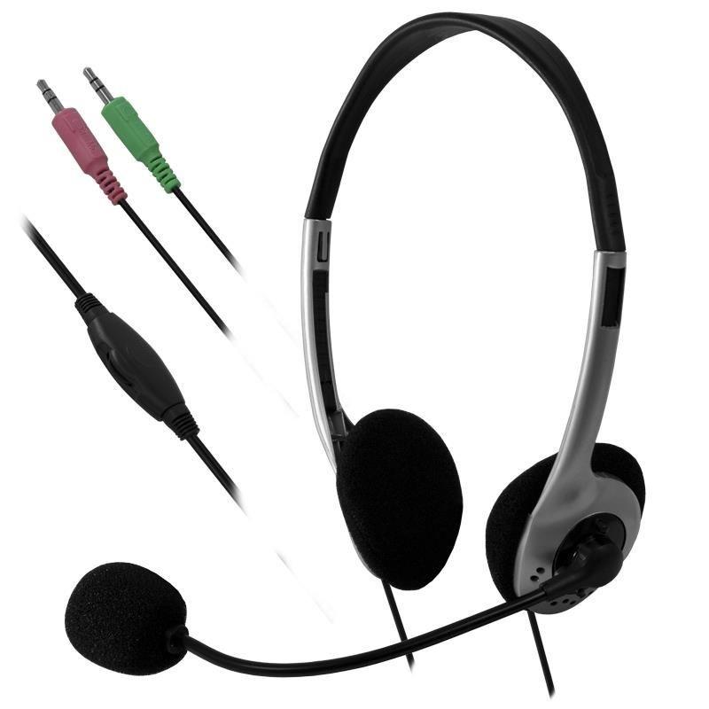 E5 Słuchawki z mikrofonem e5 Auro srebrno-czarne