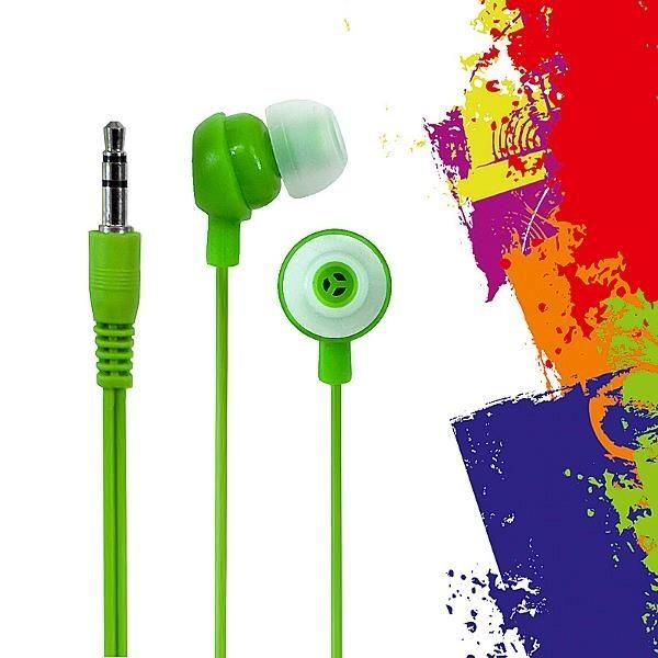 E5 Słuchawki douszne e5 Crazy Colour zielone