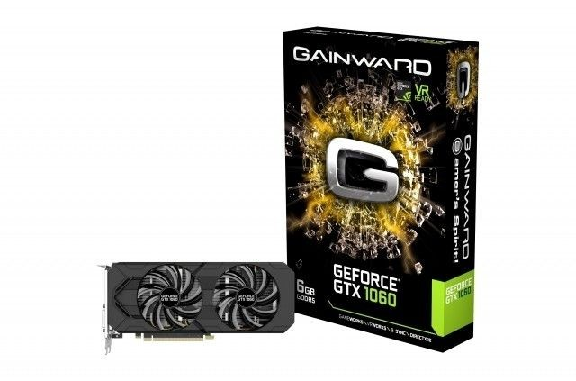 Gainward GeForce GTX 1060, 6GB GDDR5 (192 Bit), HDMI, DVI, 3xDP