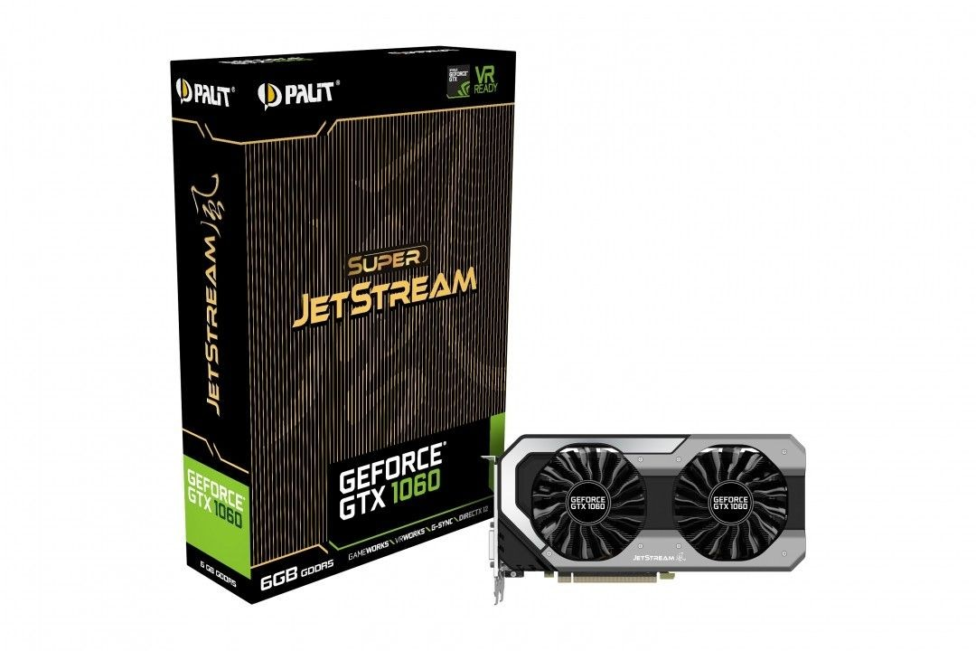 Palit GeForce GTX 1060 Super JetStream, 6GB GDDR5 (192 Bit), DVI, 3xDP