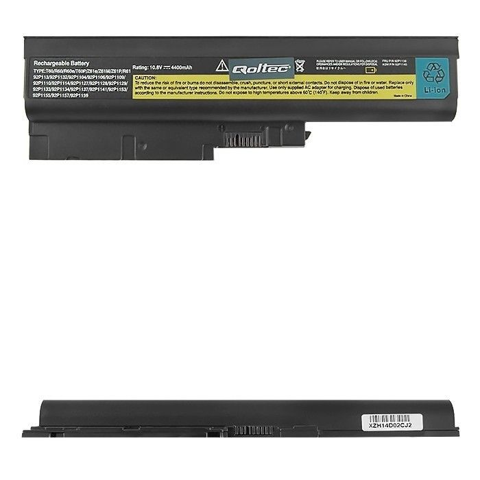 Qoltec Bateria do laptopa Long Life Lenovo R500 R60 | 4400mAh | 11.1V