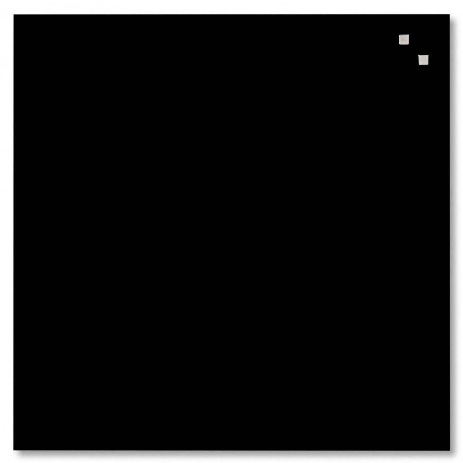 NAGA Szklana tablica magnetyczna czarna 45x45 cm