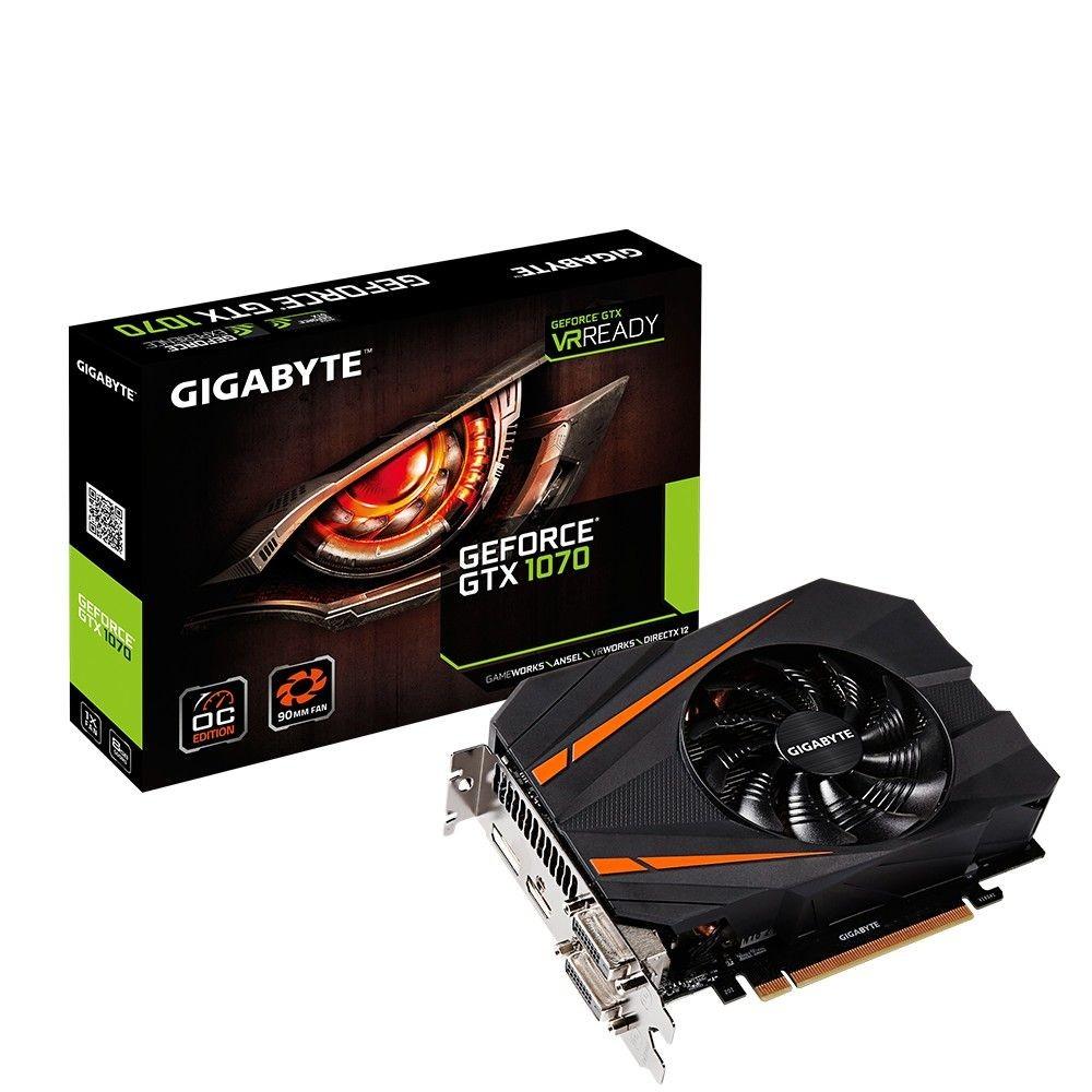 Gigabyte GeForce GTX 1070 OC, 8GB GDDR5 (256 Bit), HDMI, 2xDVI, DP