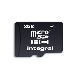Integral karta pamięci microSDHC 8GB CLASS4 + ADAPTER SD