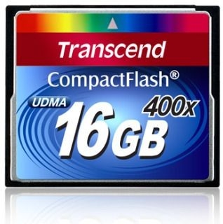 Transcend karta pamięci Compact Flash 16GB 400x ( Transfer do 60MB/s )