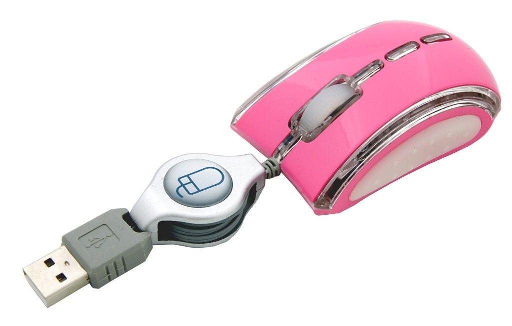 Esperanza Przewodowa Mysz Optyczna EM109P USB| 800 DPI |NEON|Różowa