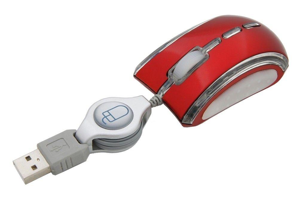 Esperanza mysz EM109R USB (zwijana)