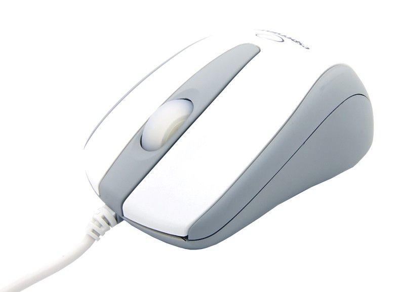 Esperanza Przewodowa Mysz Optyczna EM115W USB|3 Przyciski|Świecąca Rolka|Biała