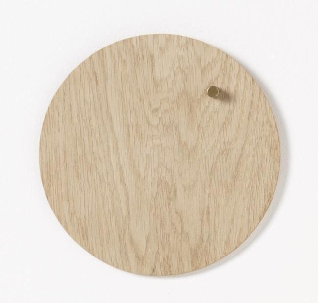 NAGA Tablica drewniana magnetyczna jasny dąb 25 cm