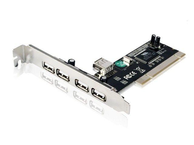 Gembird kontroler PCI do USB 2.0 (4+1) VIA