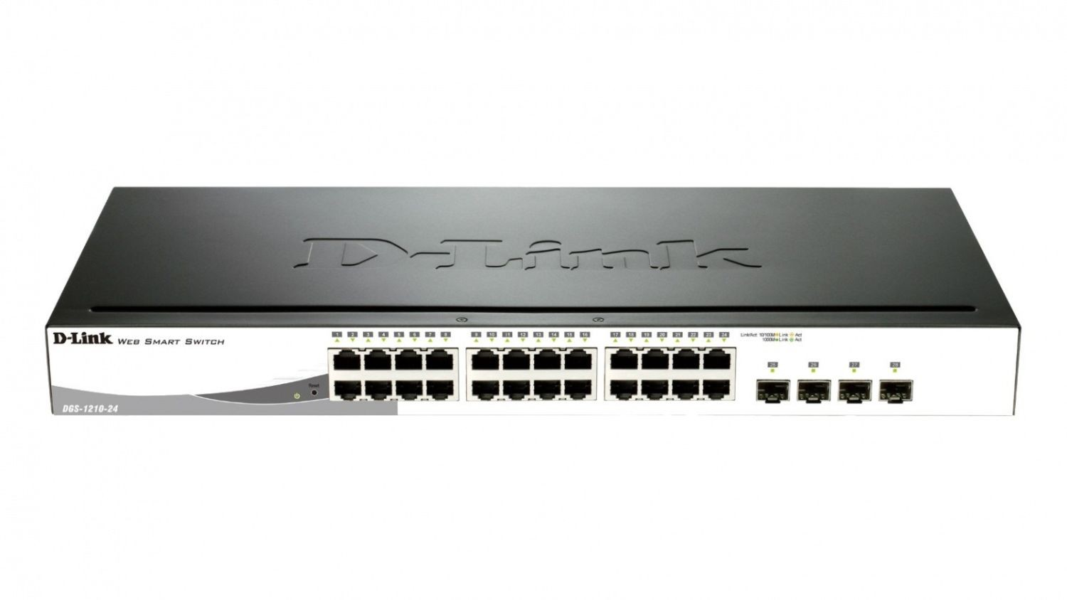D-Link 24-port 10/100/1000 Gigabit Smart Switch including 4 Combo 1000BaseT/SFP