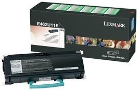 Lexmark toner black (18000str, return, E462)