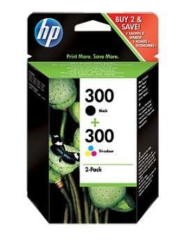 HP Zestaw HP 300 black + tri-colour Combo Pack | D2560/F4280