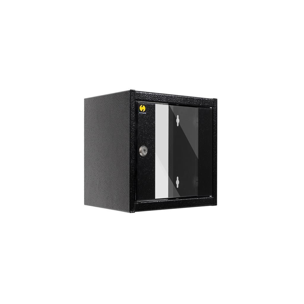 Netrack szafa wisząca 10'' (4.5U/300mm, grafit, drzwi przeszklone)