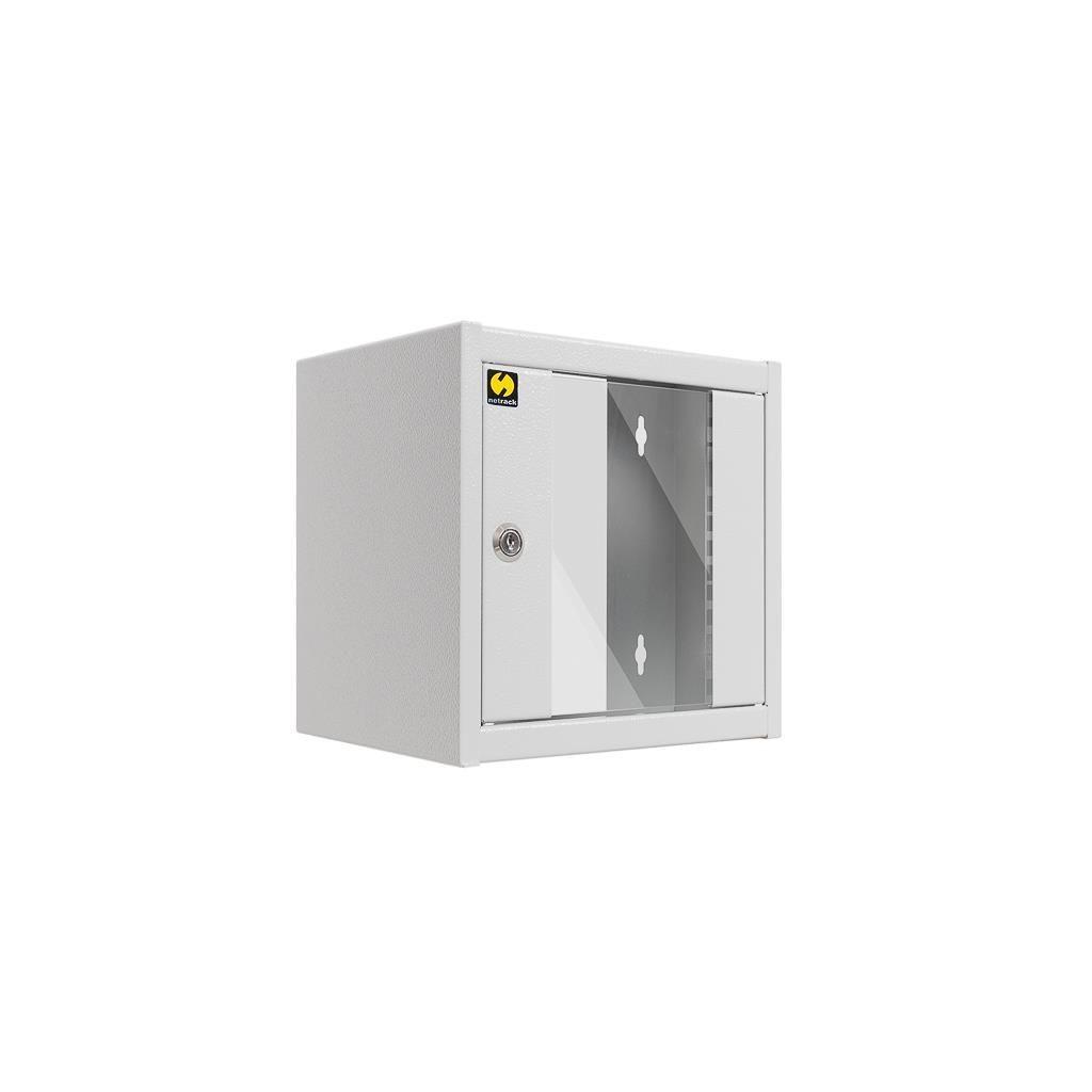 Netrack szafa wisząca 10'' (4.5U/300mm, popiel, drzwi przeszklone)