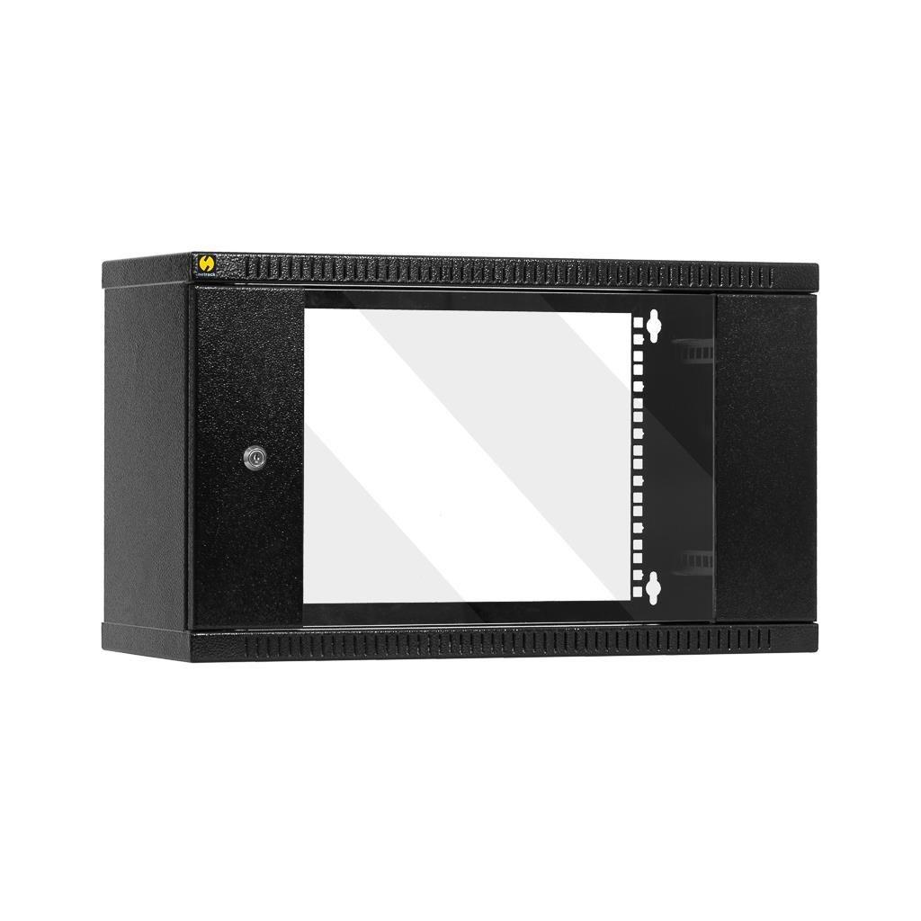 Netrack szafa wisząca 19'', 6U/240 mm - grafit, drzwi przeszklone