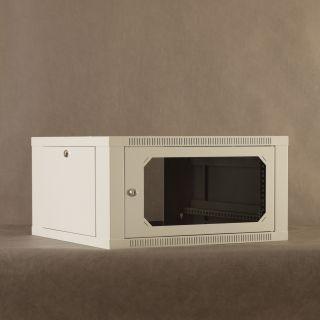 Netrack szafa wisząca 19'', 6U/600 mm - popiel, drzwi przeszklone,otwierane boki