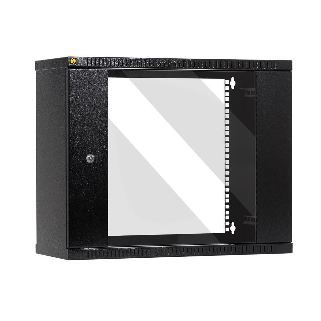 Netrack szafa wisząca 19'', 9U/240 mm - grafit, drzwi przeszklone