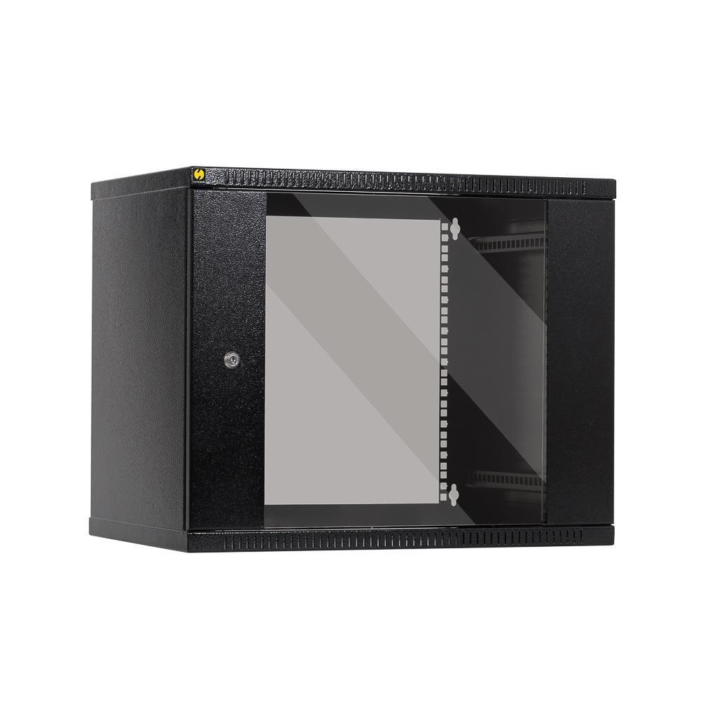 Netrack szafa wisząca 19'', 9U/400 mm - grafit, drzwi przeszklone