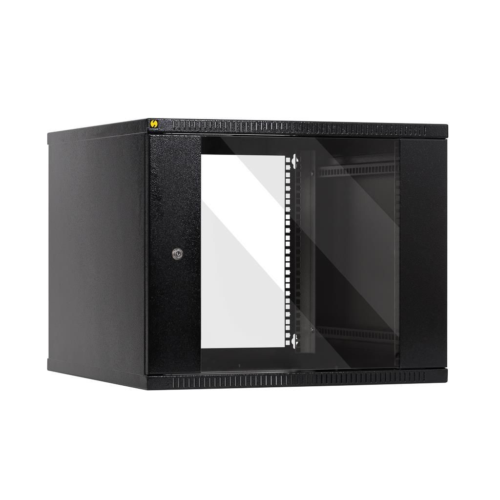 Netrack szafa wisząca 19'', 9U/600 mm - grafit, drzwi przeszklone