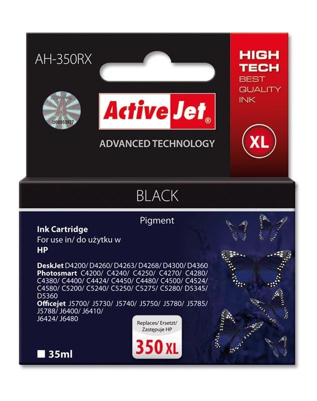 ActiveJet Tusz ActiveJet AH-350RX | Czarny | 35 ml | HP 350XL CB336EE HP 350XL