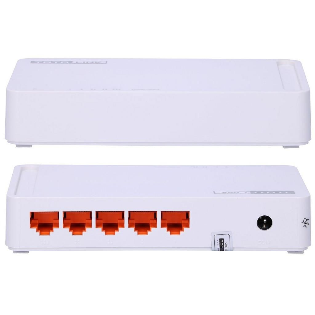 TOTOLINK S505 5-Port Desktop/Wall-mount 10/100Mbps Fast Ethernet Switch