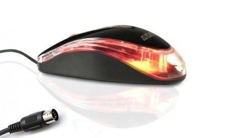 4World mysz optyczna BASIC1, PS2, 1200dpi, czarna