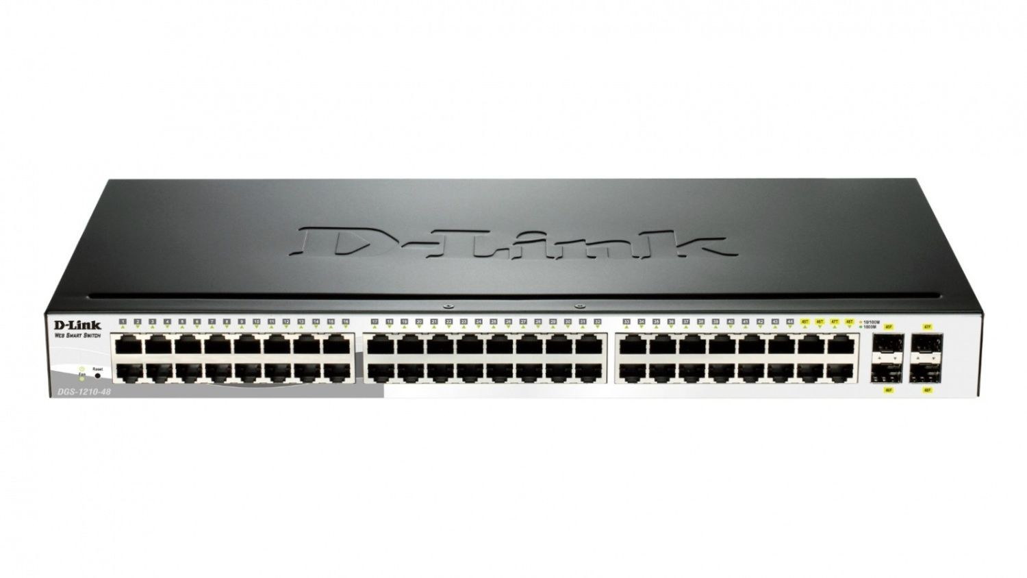 D-Link 48-port 10/100/1000 Gigabit Smart Switch including 4 Combo 1000BaseT/SFP