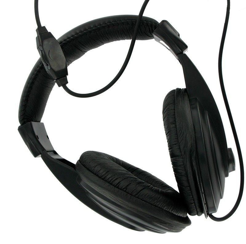 4World Słuchawki stereo z wygodnymi nausznikami czarne, 6m