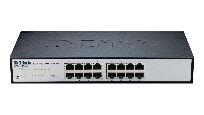 D-Link DES-1100-16 16-port 10/100 EasySmart Switch (fanless)