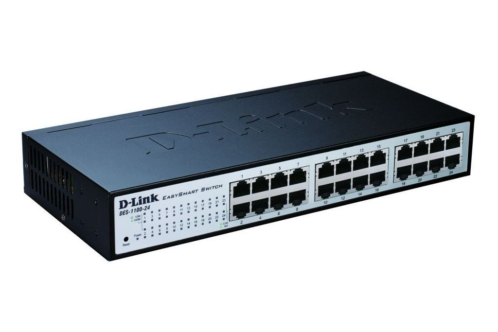D-Link DES-1100-24 24-port 10/100 EasySmart Switch (fanless)