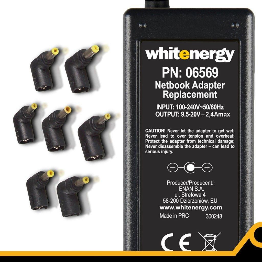 Whitenergy uniwersalny automatyczny zasilacz sieciowy do netbooków 48W (7 wtyków)