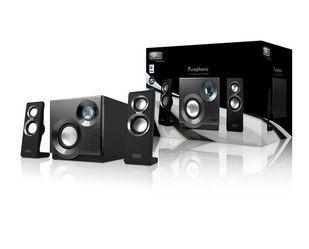Sweex Zestaw głośników 2.1, 60W Purephonic Black/ Silver