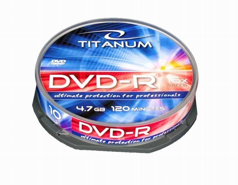 Esperanza Titanum DVD-R 4,7GB x16 (cake box, 10szt)