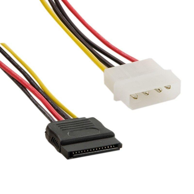 4World  kabel zasilajacy MOLEX - SATA M/F 15cm