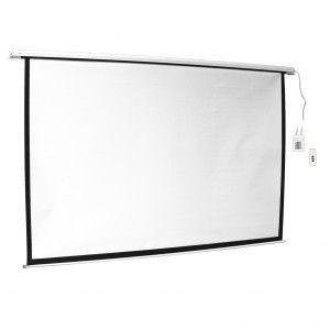 ART Ekran Elektryczny 16:9 100'' 221x125 biały z pilotem