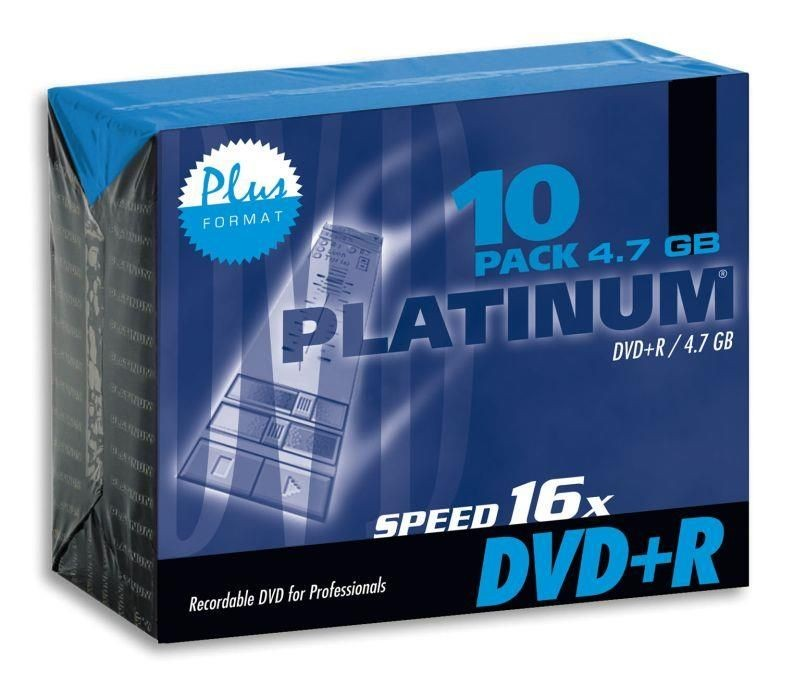 Platinum DVD+R 4,7GB 16x (slim case, 10szt)