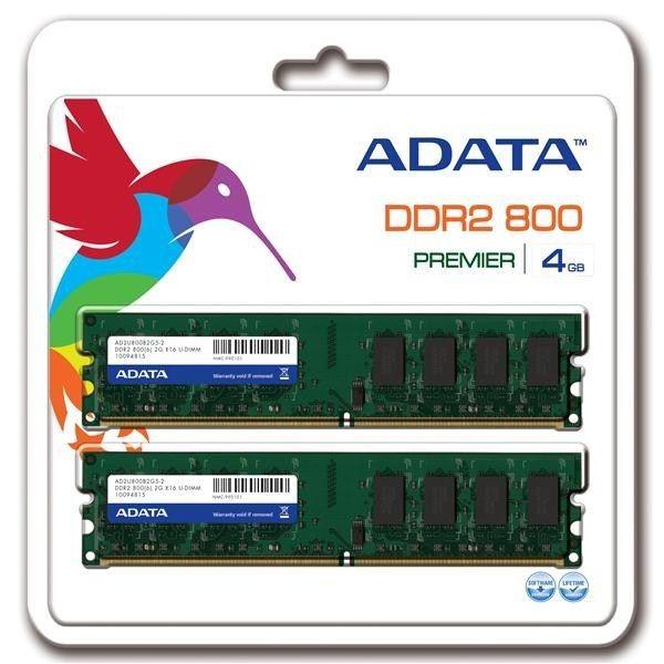 A-Data Pamięć DIMM DDR2 4GB 800MHz 6CL 1.8V DUAL