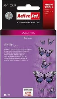 ActiveJet Tusz ActiveJet AB-1100MR | Magenta | 7 ml | Brother LC1100M, LC980M