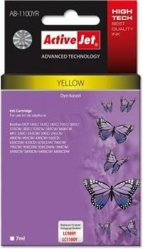 ActiveJet Tusz ActiveJet AB-1100YR | Yellow | 7 ml | Brother LC1100Y, LC980Y